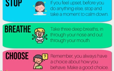 Wellbeing Poster for EYFs & KS1 – Stop, Breathe, Choose